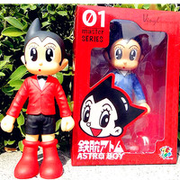 30 CM Anime Astro Boy Freddie Highmore Cartoon Tetsuwan Atom Jeans/World BOY PVC Action Figures Model Toy Creative Gifts L344