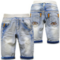 4027 calf-length boy shorts soft jeans shorts  pants boys summer shorts kids children  light  blue 70% length  hole  summer