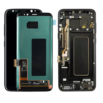 S8 LCD con Cornice di Ricambio per SAMSUNG Galaxy S8 G950 G950F Display S8 G950FD G950U G950A G950T Touch Screen Digitizer