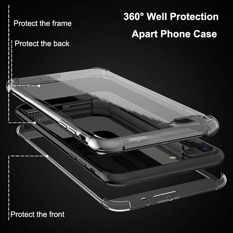 HD Clear TPU Funda para iPhone 7 8 Plus para iPhone 8 7 Fundas 360 - Accesorios y repuestos para celulares - foto 2