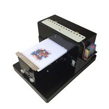Digital printer directly to print dark light color for T shirt clothes garment ( cotton ) phone case Flatbed Printer A3 size