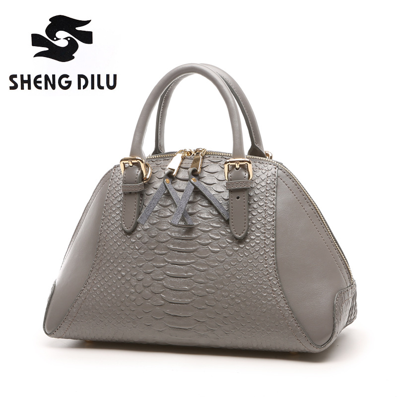 27481e1bc46 2016 Famous Designers Brand Crocodile Women Genuine Leather Embossed Bag  Handbags Luxury Cowhide Shoulder Messenger Tote Bags-in Top-Handle Bags  from ...