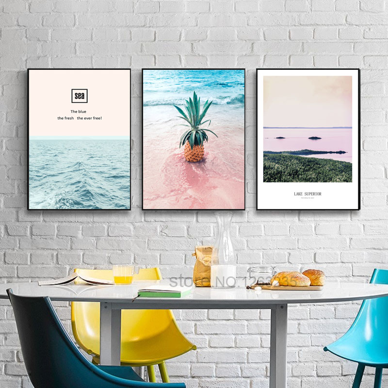 Pink Pineapple Nordic Poster Picture Wall Art