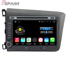 New Arrival Quad Core Android 5.1.1 Car GPS For CIVIC 2012 With DVD Stereo Audio Wifi Bluetooth Radio Free Map DHL Free Shipping