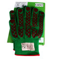 (1pair,1box)New product green outdoor bbq ,heat resistant home kitchen microwave oven glove
