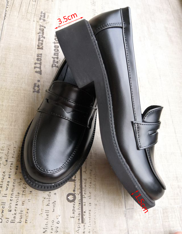 Japanese Black Brown School Shoes 1