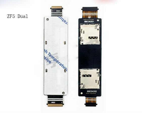 جديد واحدة/المزدوج سيم بطاقة صينية موصل علبة حاوية فليكس كابلات لابتوب اسيوس Zenfone 5 ZF5 A500CG
