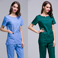 Summer uniformes hospital women medical clothing nursing scrubs uniforms clinicos dental clinic beauty salon nurse surgical suit