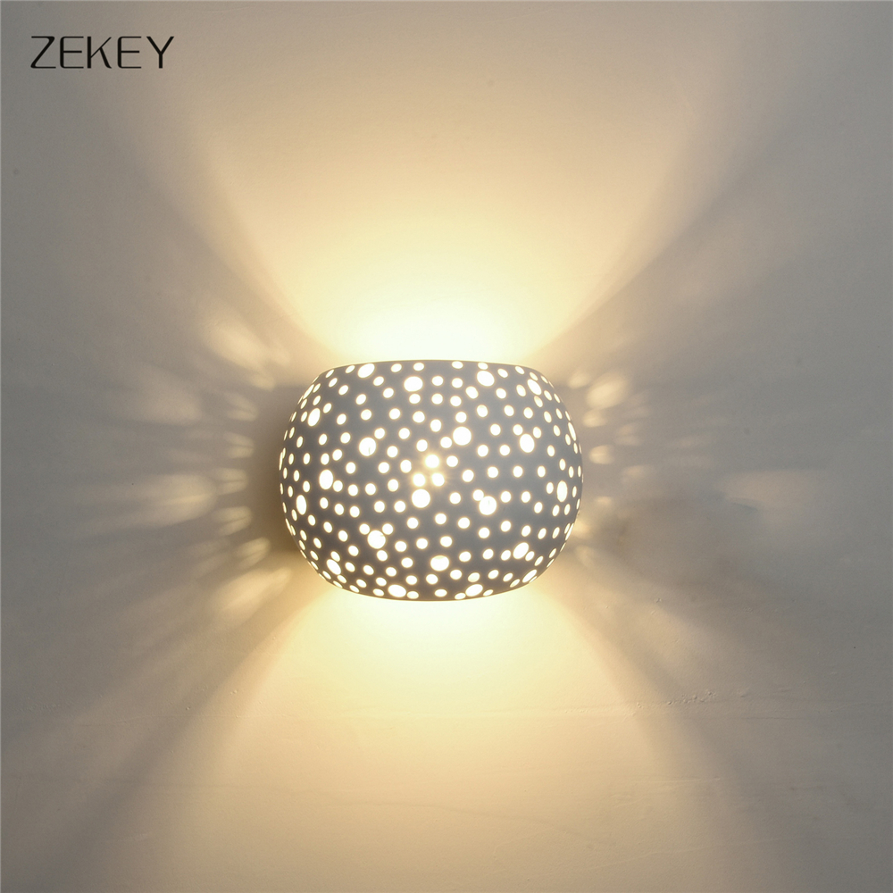 Moder Plaster Decorate LED Wall Light Gypsum Material Wall lamp With ...