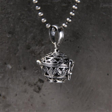 925 Sterling Silver Charm Openable Pendants Cup Antique Hollow Flower Pattern 18*18.5MM 5.2G 2018 New