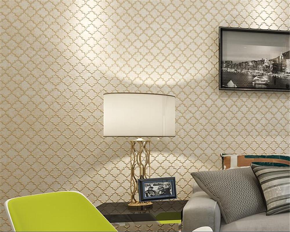 ФОТО Beibehang Earth Gold Simple 3D Wallpaper Store Restaurant Living Room  Living Room Background Wallpaper.wallpaper for walls 3 d
