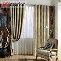 DSinterior árvore projeto jacquard Blackout cortina para sala de estar janela tamanho feito sob encomenda