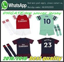 aa1eb741d AAA+2019 Arsenal soccer jersey 18-19 kids suit +socks AUBAMEYANG MKHITARYAN  OZIL JERS TORREIRA child football Free shipping