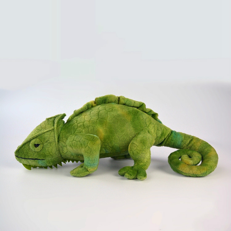 Simulation Green chameleon soft toy stuffed animal plush toys for children christmas gift