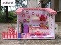 Diy Mini modelo artesanal casa de boneca nova garota frete grátis meninas Dollhouse Toy