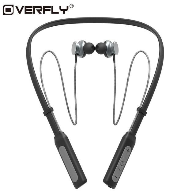 657fb6d791e Overfly Bluetooth Earphones Hi-Fi Stereo Wireless Headphones Magnetic Earbuds  Lightweight Neckband Sports Sweatproof With Mic
