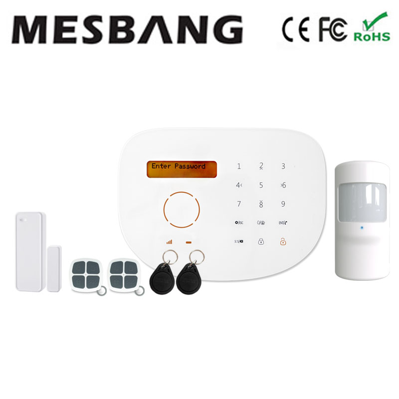Home GSM security system support IP camera and some smart home appliance and APP RFID free shipping