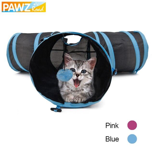 Cat Tunnel Pieghevole Speciale Forma A Y 3 Fori Pet Gioca Giocattolo per Puppy K
