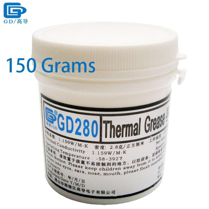 GD Теплопроводящая паста для смазки силиконовый пластырь теплоотвод смесь GD280 вес нетто 150 грамм Упаковка для бутылки белый для LED CN