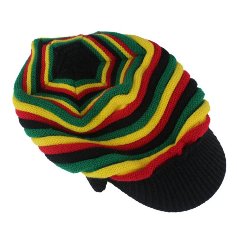 Warm hat blush yellow blue green color striped sweater wool cap sports  running cap-in Running Caps from Sports   Entertainment on Aliexpress.com  509200ede