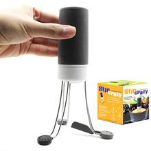 Durable 3 Speeds Cordless Stir Crazy Stick Blender Mixer Automatic Hands Free Kitchen Utensil Food Sauce Auto Stirrer Blender