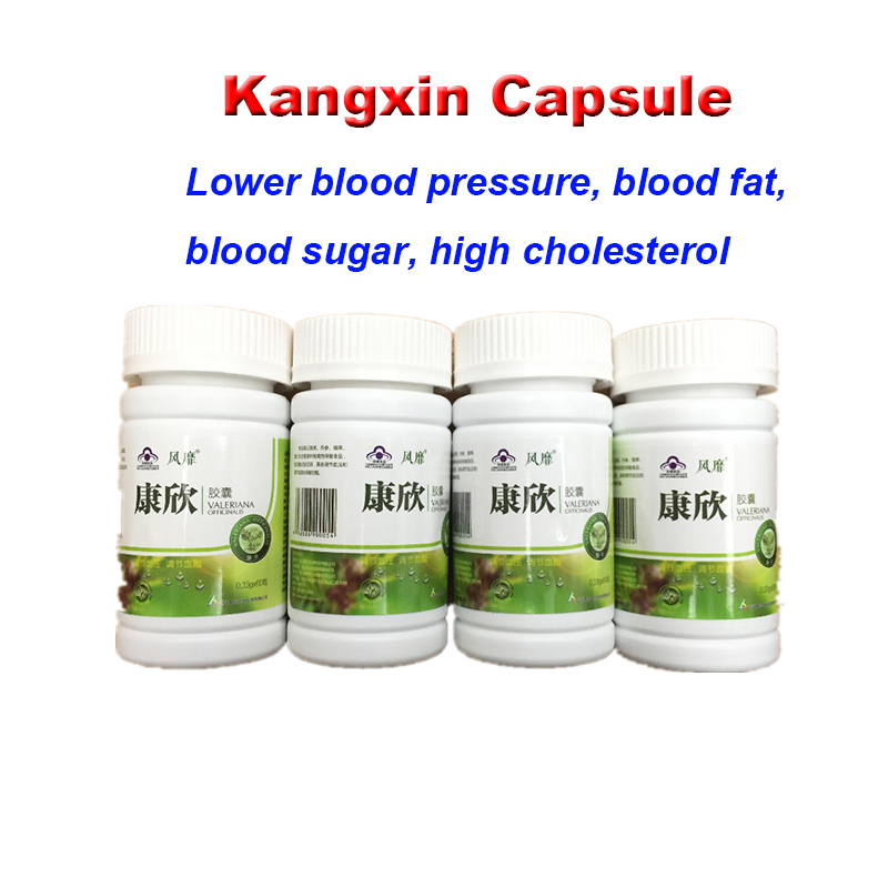 1 Bottles Kangxin Lower High Blood clean blood vessel product hypertension capsule 100% herbs free shipping
