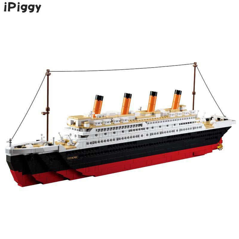 Bloques 3D Titanic Rms barco juguetes educativos modelo bloques de construcción Kits compatibles con la famosa ciudad de la marca para regalo de niños-in Kits de construcción de maquetas from Juguetes y pasatiempos    2