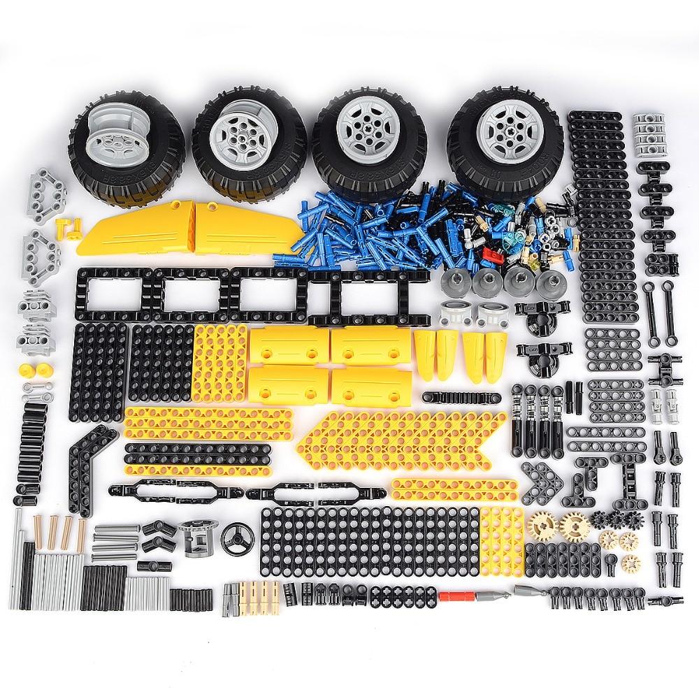 Teile (500 + Stück) Technik Zubehör Groß Set Bausteine Spielzeug Acces Strahl Pin Kreuz Welle Rad Reifen Legoinglys Stecker