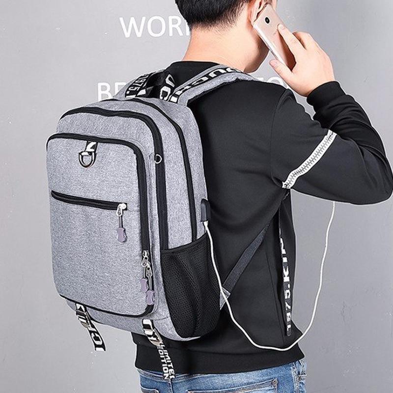 Waterproof USB charging men schoolbag teenage teenagers bookbag backpack to school bag Student book bag travel pack for male