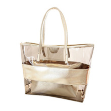 Woman Handbags Purse Transparent Bags Jelly Crystal Women Composite Bag PVC Girls Casual Beach Bag bolsa feminina