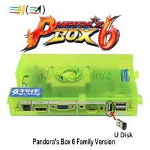 Оригинальный ящик Пандоры 6 Семья новой версии материнская плата 1300 в 1 можете добавить 3000 игр поддержка ФБА MAME PS1 игра Pandora's Box 6 доска