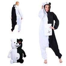 594ee679cc660 Albrose Bande Dessinée Combinaisons Pyjamas Vêtements kigurumi Cosplay  Costumes Noir Blanc Ours(China)