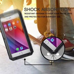 Image 4 - Sang trọng giáp Kim Loại Nhôm Đựng điện thoại Chống Nước cho iPhone XR X 6 6S 7 8 Plus XS Max Chống Sốc chống bụi Dày Bao