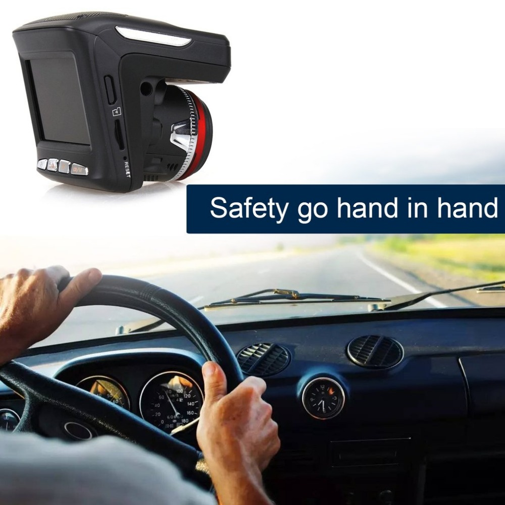 2 in 1 Night Vision Car DVR With Radar Detector + GPS Russian Pre warning Data Recorder 720P 2.31 Inch Screen Video Recorder