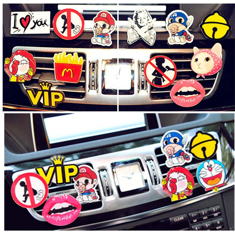 New high-end creative hip-hop personality vehicle air conditioning outlet perfume clip Street Style Decor Air Freshener Styling