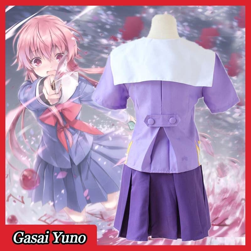 New Future Diary Mirai Nikki 2 Gasai Yuno Gasai School Uniform Cosplay Costume
