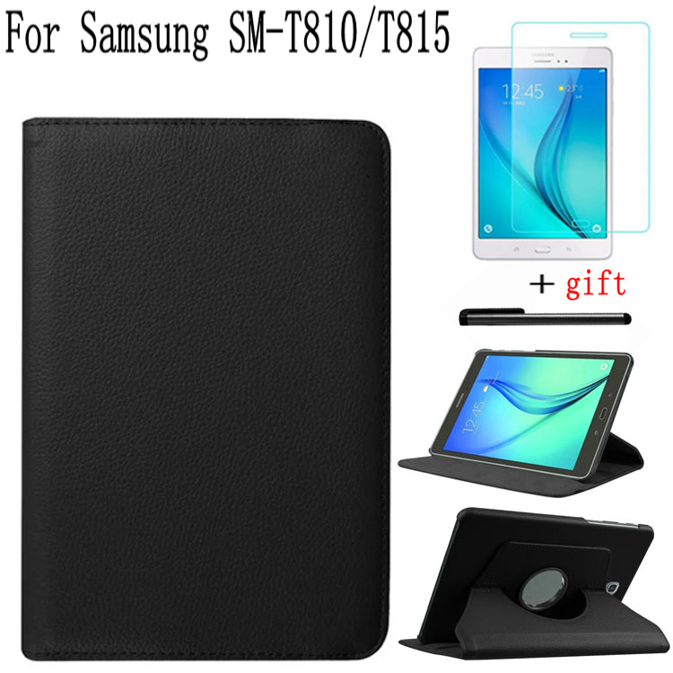 Stand Smart Leather Rotating Cover for Samsung Galaxy Tab S2 9.7 T810 T813 T815 T819 Tablet Case+Free Screen Protector+Pen cowboy cloth leather case for samsung galaxy tab s2 9 7 t810 t815 t819 t813 smart case cover funda tablet slim flip stand shell