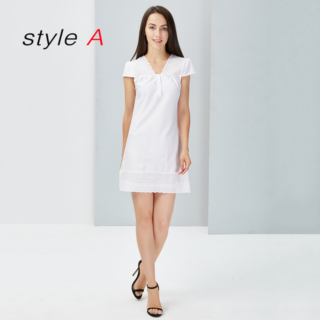 2fb24a7b3e4 White Lace Dress For Women Clothing New Summer Beach Deep V neck Sexy  Sundress Short Sleeve