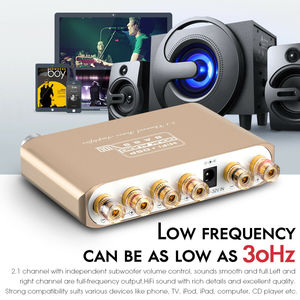 Image 4 - 2020 Nobsound Mini HiFi 2.1Channel Subwoofer Bluetooth 5.0 DSP Digital Power Amplifier Stereo Bass Amp With 24V/3A Power Supply