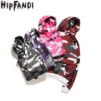HIPFANDI Camouflage Hoodies Men 2017 New Arrival Sweatshirt Men Camo Hoody Hip Hop Autumn Winter Cotton
