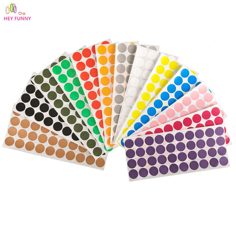 Hey funny 40 dot sheet 10sheets lot 2cm circle round color coded label dot