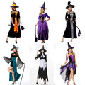 Halloween Costumes Witch Costume for Women Adult Adulto Fantasia Dress Hat Cosplay Clothing for Woman