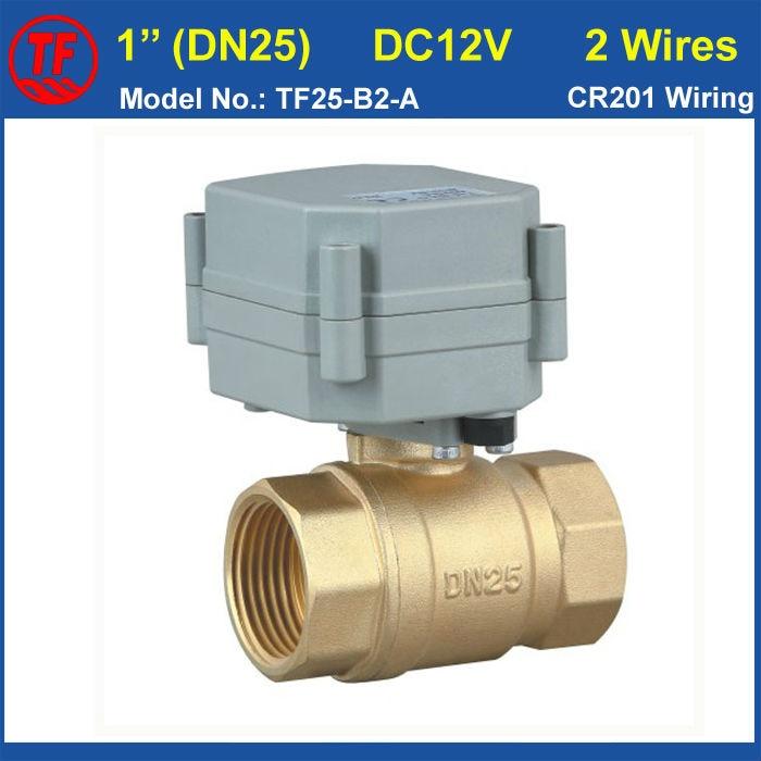 ✓High Qulaity DC12V 2 Wires NPT/BSP Brass 1 Electric Ball Valve ...