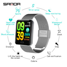 SANDA 2019 new Bluetooth smart watch mens digital ladies heart rate sphygmomanometer fitness wristband ndroid ios