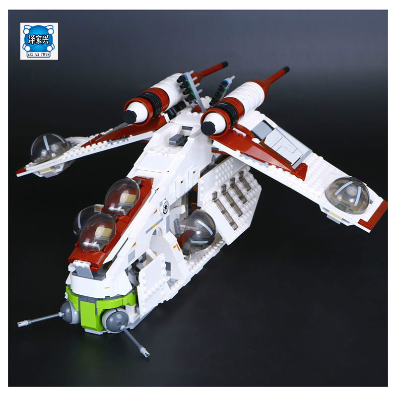 Lepine Genuine Star Series War The Republic Set Gunship Set Educational Building Blocks Bricks Toys Compatible with Model Gifts new 543pcs lepin 05048 star war seiers the tie striker building blocks bricks educational funny toys compatible with 75154 gifts