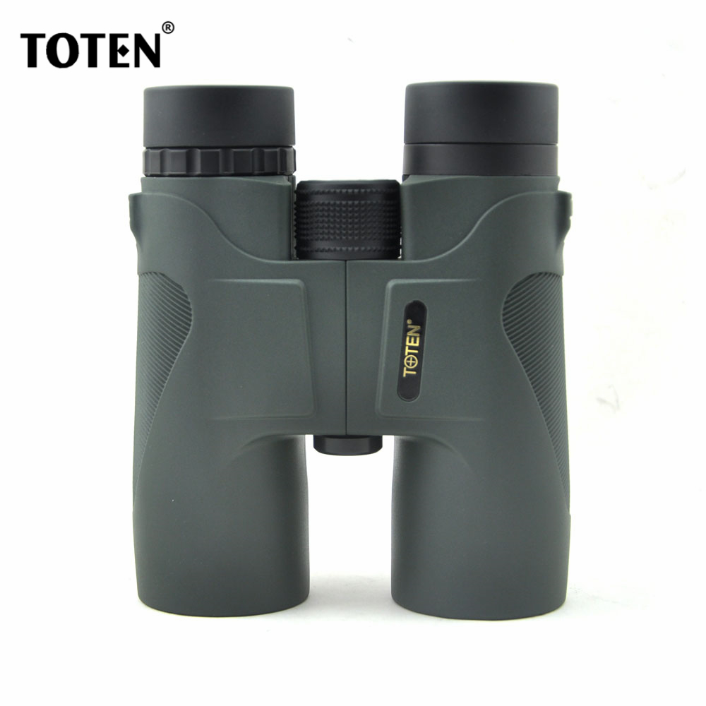 TOTEN Binoculars 10x42 Green 100 Hunting Roof Binoculars Telescope Birdingwatching Sports Outdoor Professional Telescope бинокль bushnell powerview roof 10x42 камуфляж