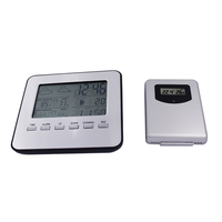 LCD Wireless Weather Station Digital Indoor Outdoor Thermometer Hygrometer Temperature Humidity Meter Date Alarm Clock