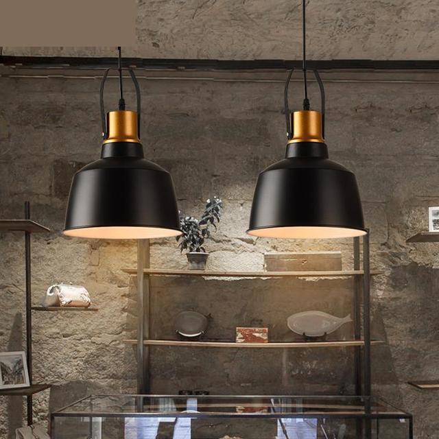 Loft American Restaurant Light Coffee Bar sconce Retro Industrial lighting Creative Balcony Corridor Single iron pendant lights