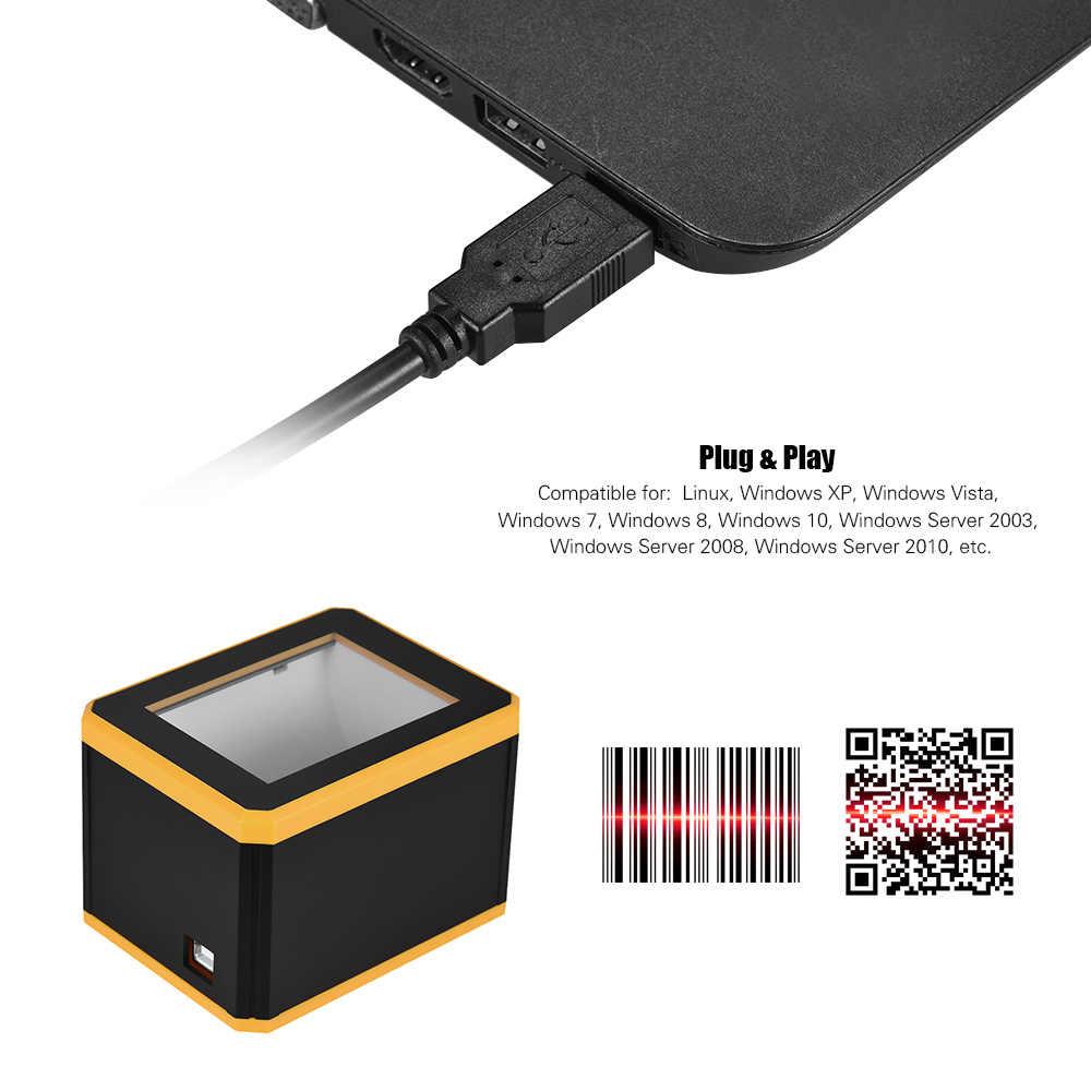 Aibecy her yöne barkod tarayıcı platformu 1D/2D/QR barkod tarayıcı telefon Autoscanner okuyucu sunum USB arayüzü