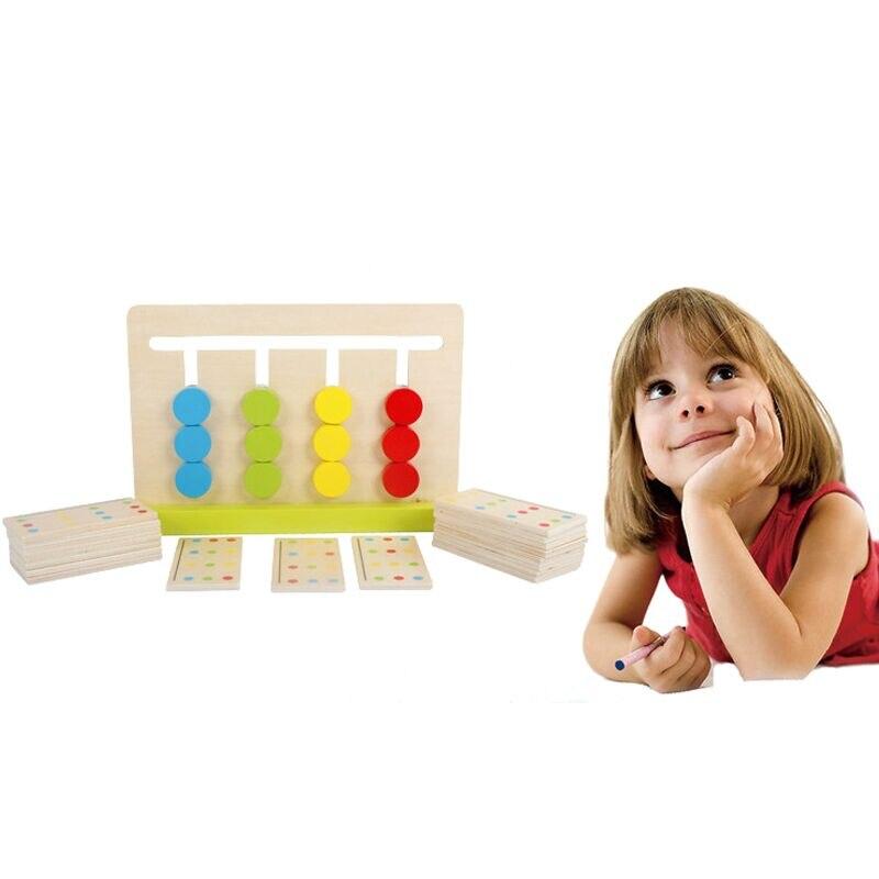 Montessori Pädagogisches Holz Spielzeug Für Kinder Aids 4 Farbe ...